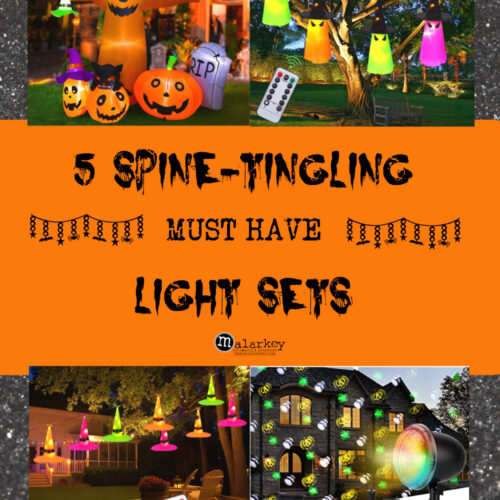 pin with 5 different halloween lights