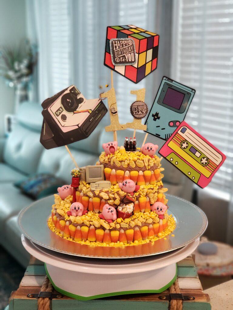 video game cake paddy bday cake