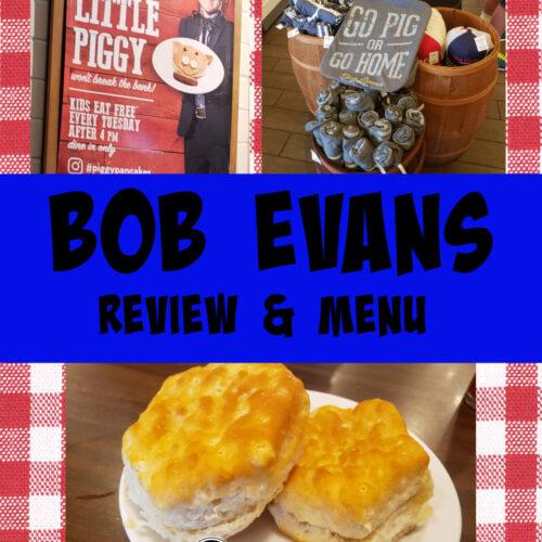 bob evans menu and review