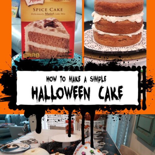 how to make a simple halloween cake pin with pictures of cake