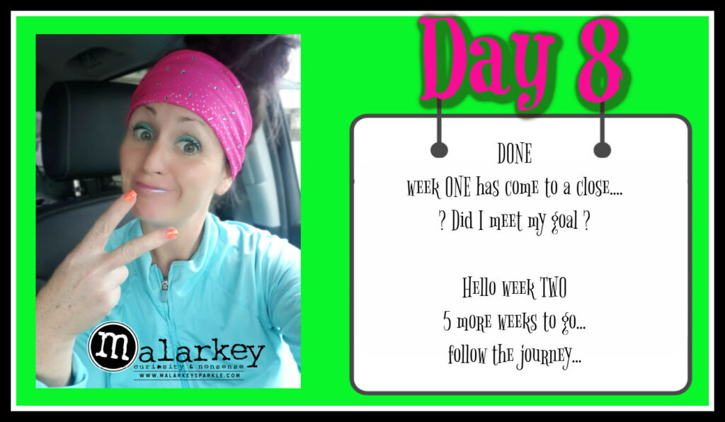 day 8 week 1 recap with womans face