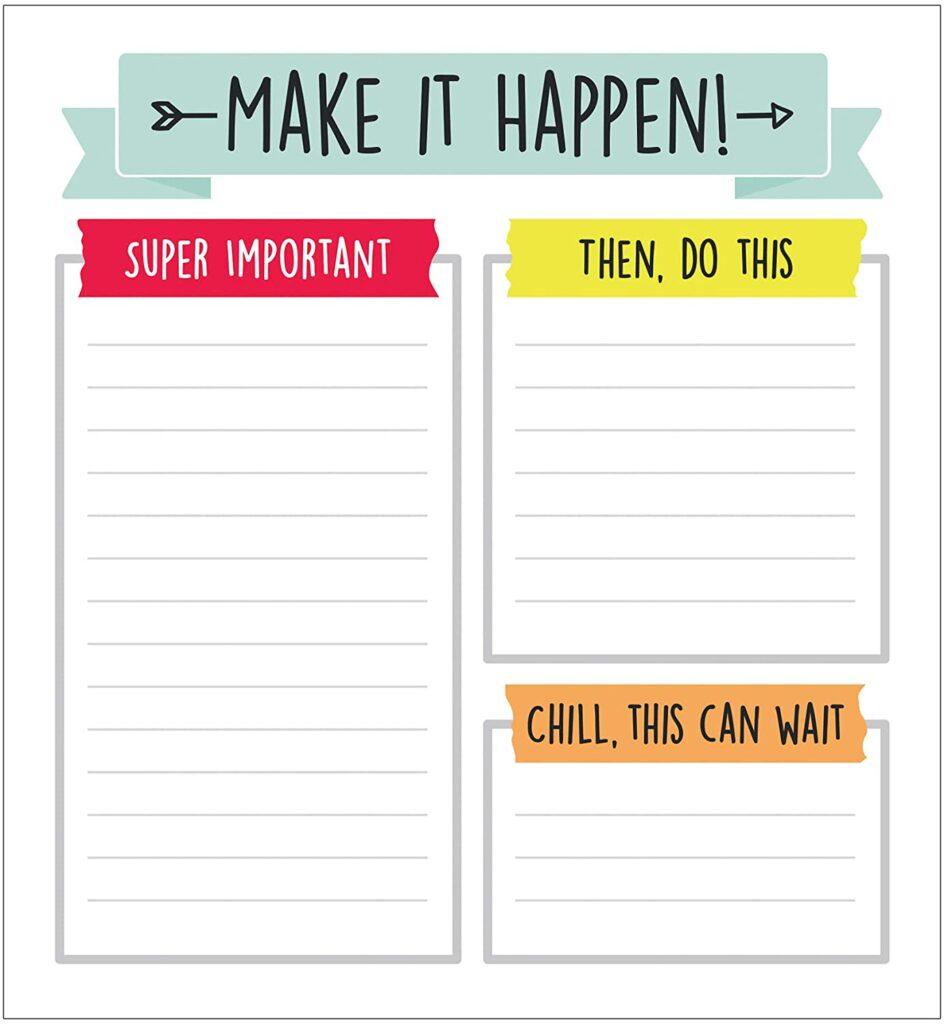 make it happen list - Tidy desk, Tidy Mind - DECLUTTER BOTH