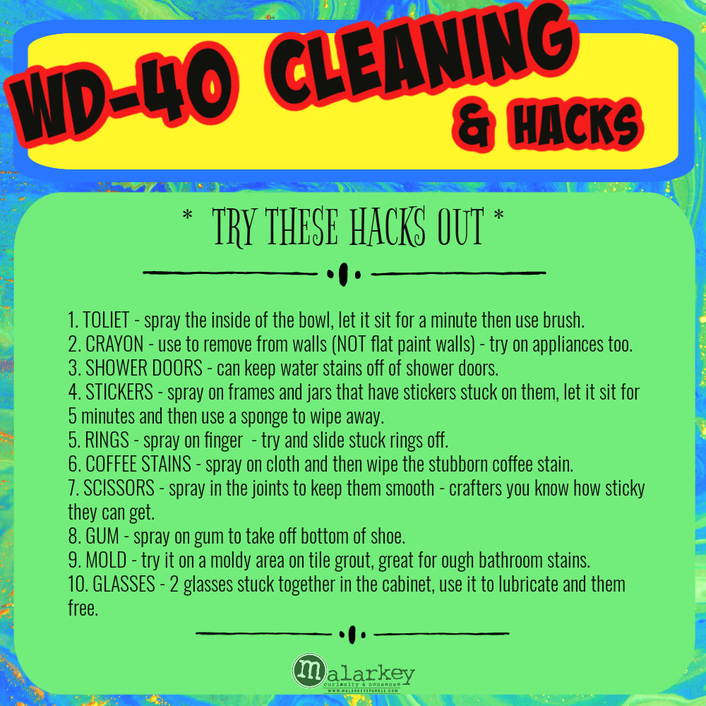 cleaning tips wd 40