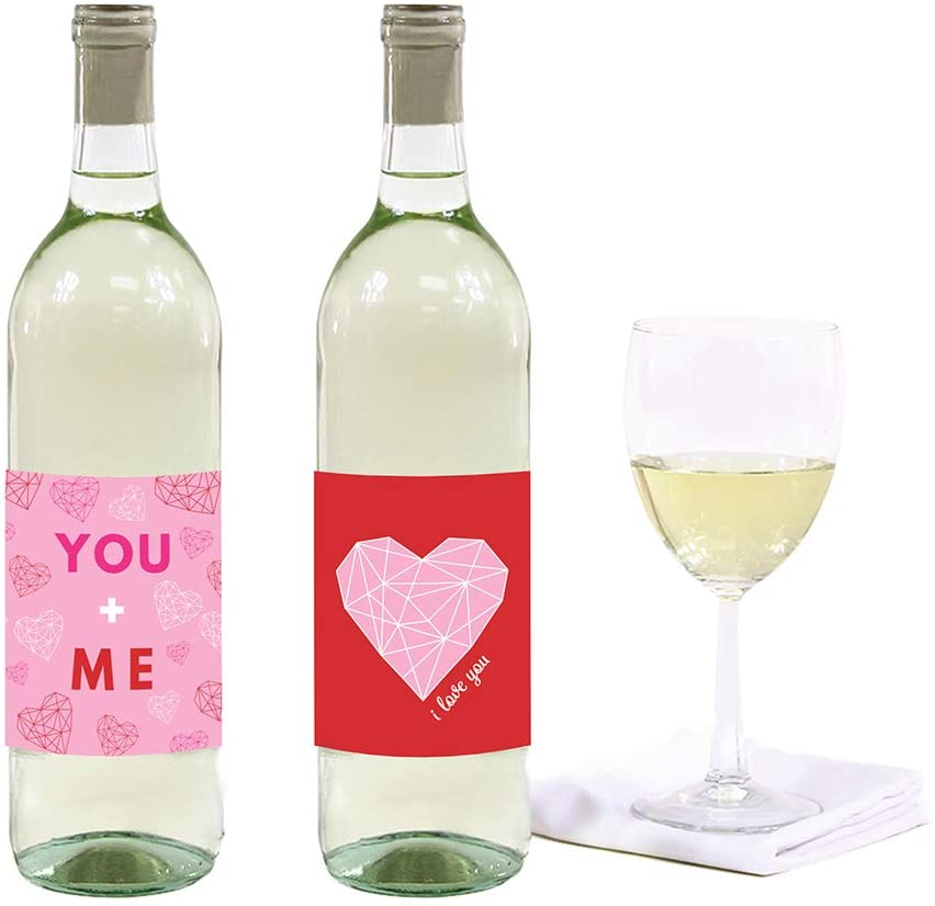 Valentines Day - spread love - wine lables you and me