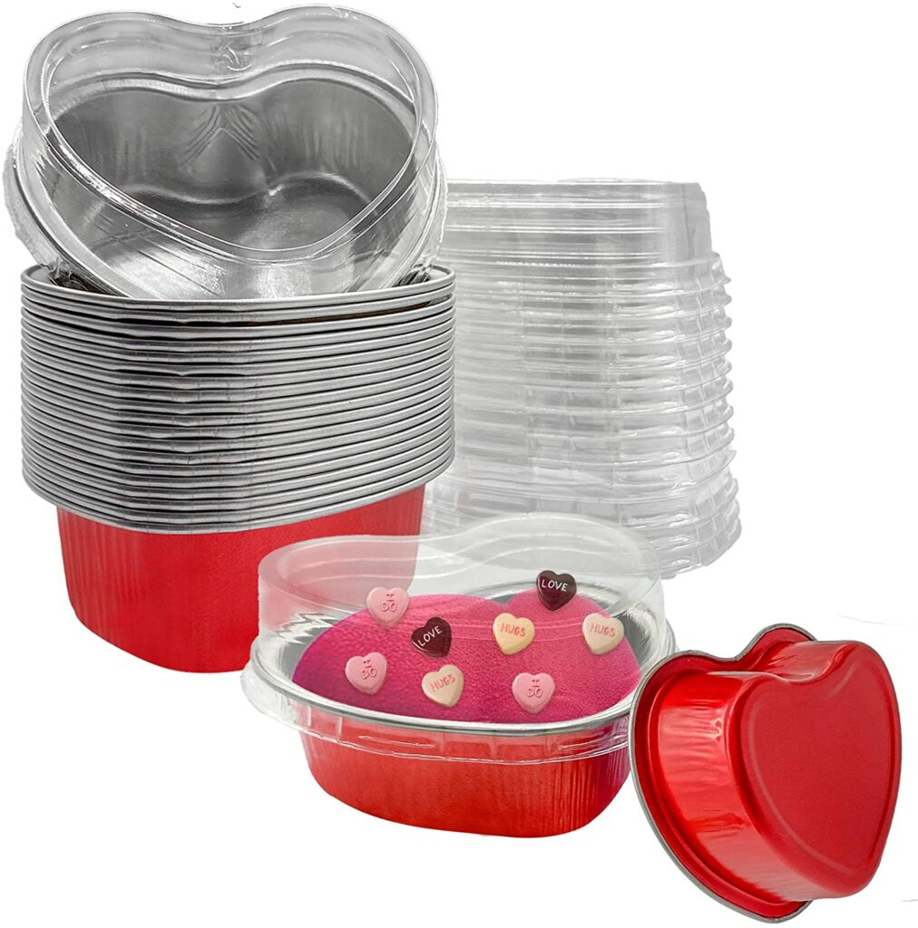 Valentines Day - spread love - tins for baking heart shaped