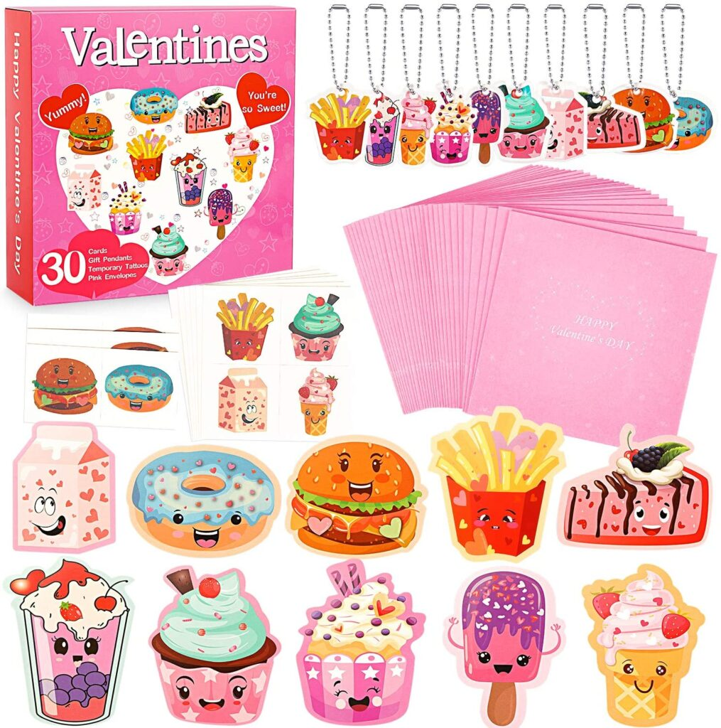 Valentines Day - spread love - food key chains