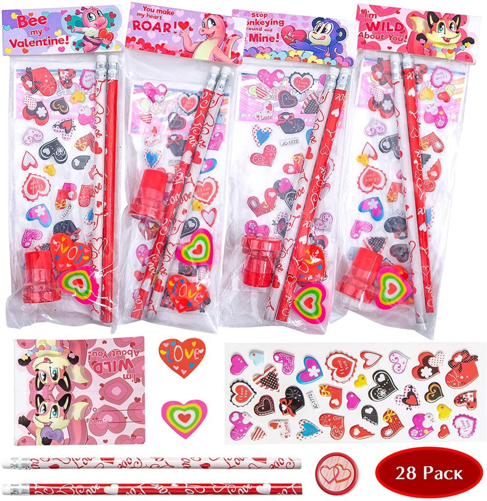 Valentines Day - spread love - kits with pencils
