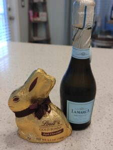 bunny chocolate and champs