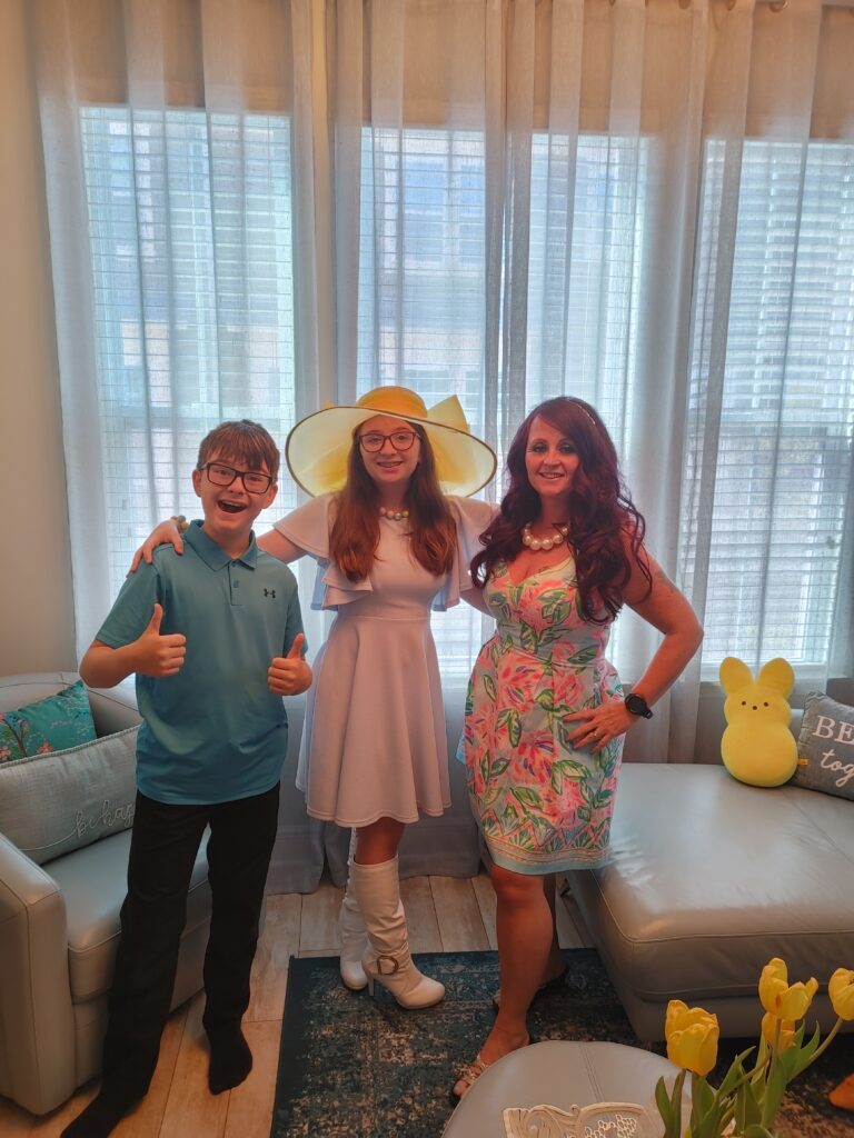 easter all dressed up family