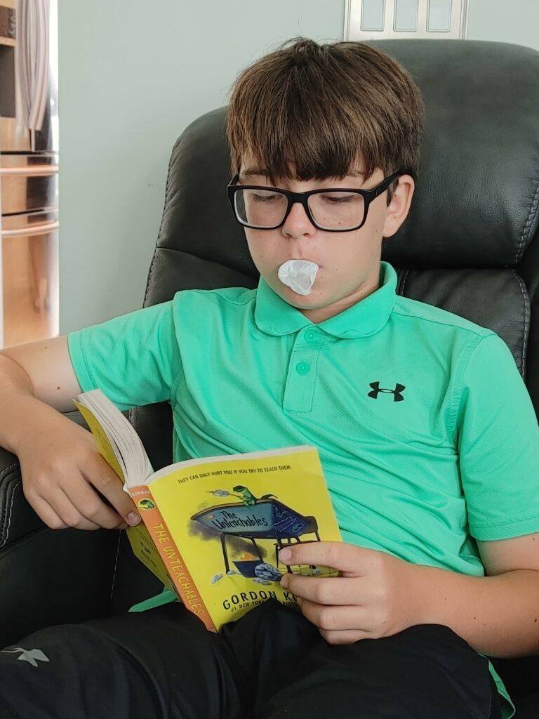 the boy reading