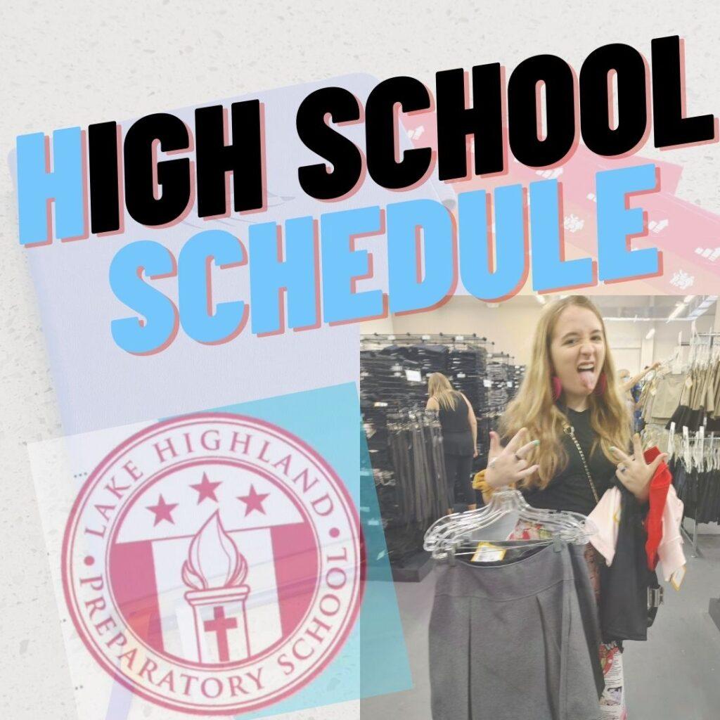 high school schedule for saoirse