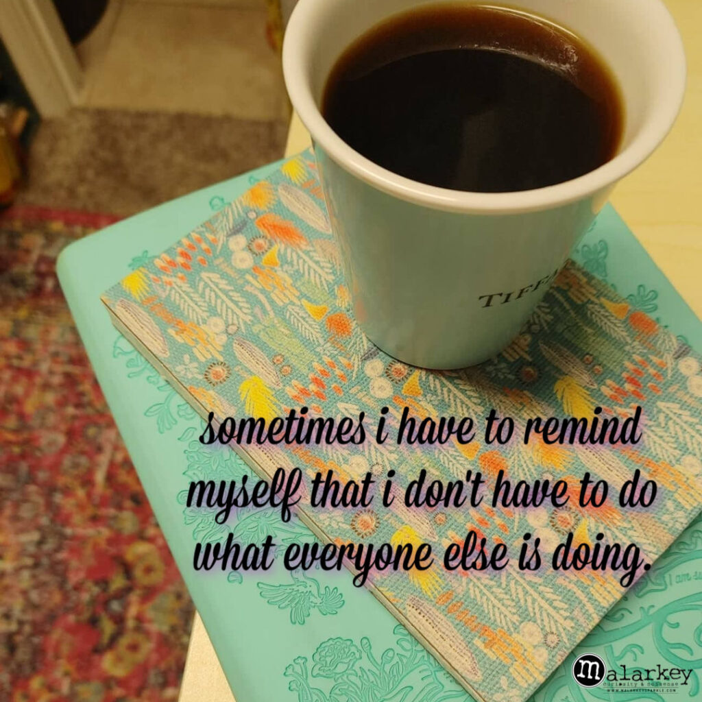 coffee thoughts - malarkey morning moments