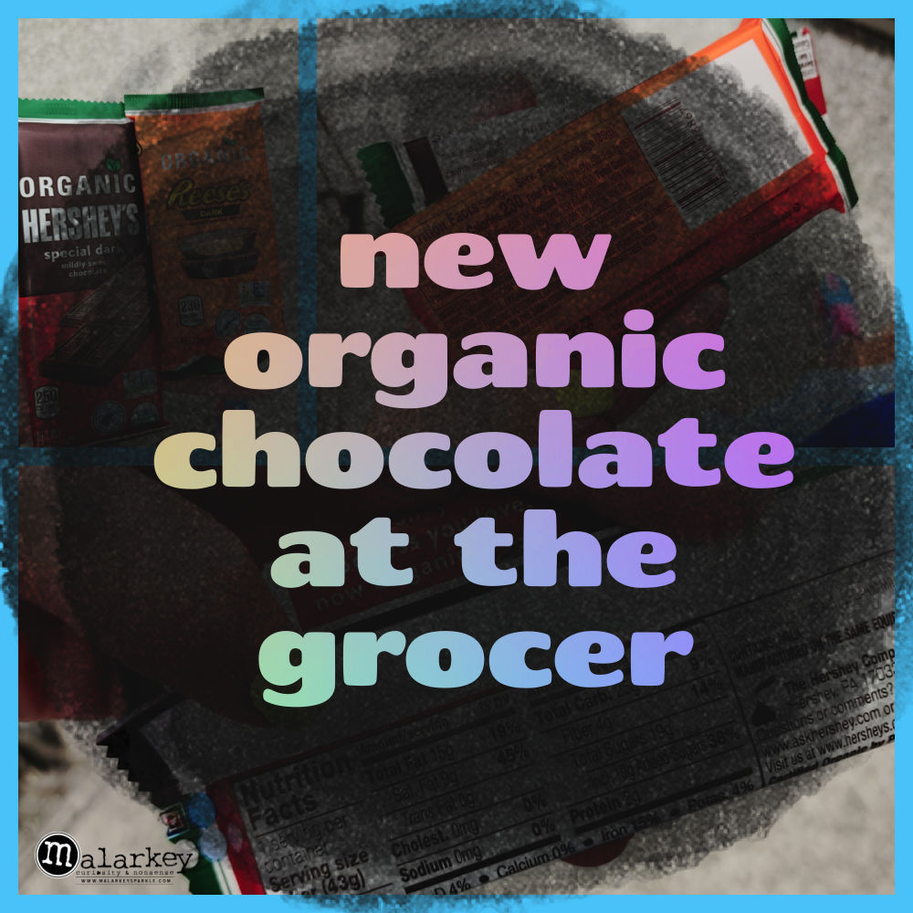 organic chocolate at the grocer