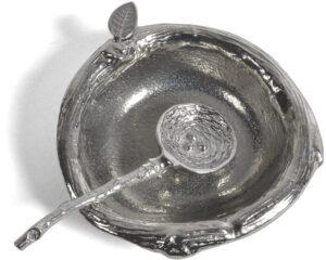 silver pinch pot