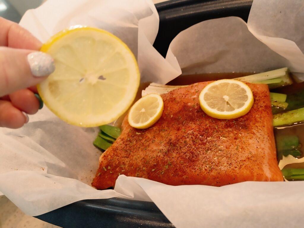 salmon leeks lemon and garlic crockpot