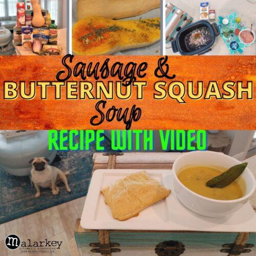 butternut squash soup sausage