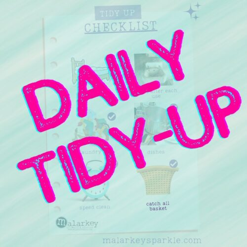 daily tidy up