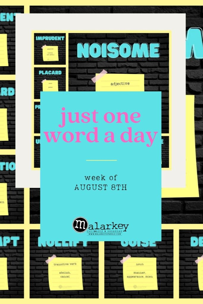 JUST ONE WORD A DAY