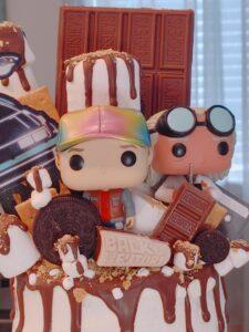back to the future cake - smores - malarkey