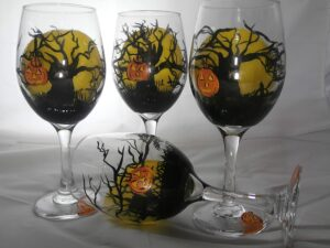 drink up witches - fall halloween cocktail glasses - malarkey