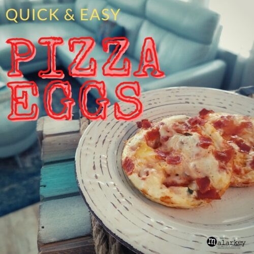 pizza eggs in the best egg pan - malarkey