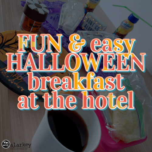 fun and easy halloween breakfast at the hotel - malarkey