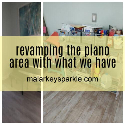 revamping the piano area - malarkey