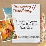 table setting - thanksgiving